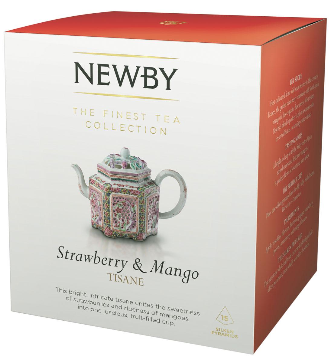 Newby Strawberry & Mango (infusion) фруктовый напиток в пирамидках, 15 штTALTHB-DP0021Newby Strawberry & Mango - вкуснейший фруктовый напиток. Мягкий вкус тропических фруктов с легкой кислинкой летних ягод и ароматом спелого манго. Каждая пирамидка упакована в индивидуальное саше из алюминиевой фольги для сохранения свежести ингредиентов.