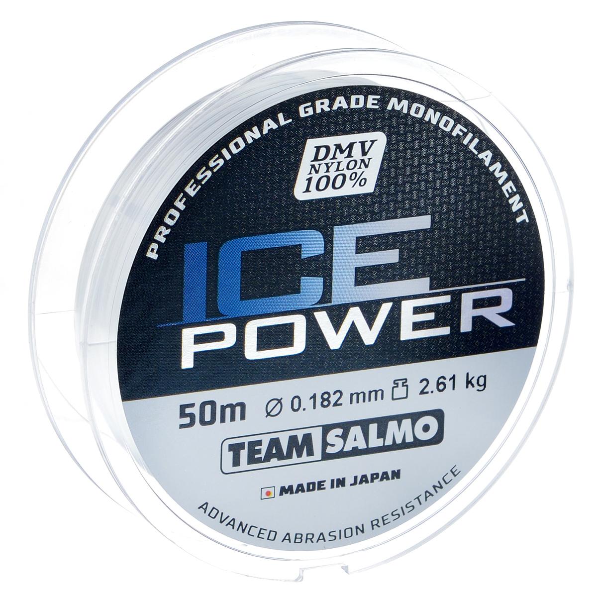 Леска монофильная Team Salmo Ice Power, сечение 0,182 мм, длина 50 м0036416Team Salmo Ice Power - это леска последнего поколения, идеально калиброванная по всей длине, с точностью, определяемой до третьего знака. Материал, из которого изготовлена леска, обладает повышенной абразивной устойчивостью и не взаимодействует с водой, поэтому на морозе не теряет своих физических свойств, что значительно увеличивает срок ее службы. У лески отсутствует память, поэтому в процессе эксплуатации она не деформируется. Низкий коэффициент растяжимости делает леску максимально чувствительной, при этом она практически незаметна для рыбы. Леска производится использованием самого высококачественного сырья и новейших технологий.