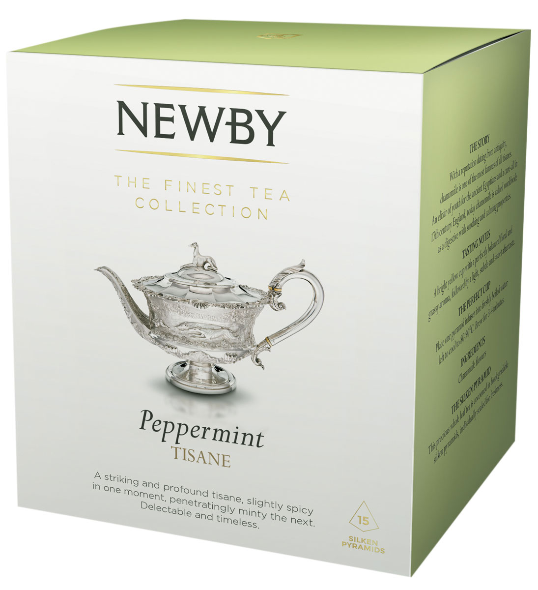Newby Peppermint травяной чай в пирамидках, 15 штTALTHB-DP0023Newby Peppermint- освежающий травяной чай из листьев перечной мяты. Чашка благоухает пряным мятным вкусом. Каждая пирамидка упакована в индивидуальное саше из алюминиевой фольги для сохранения свежести ингредиентов.