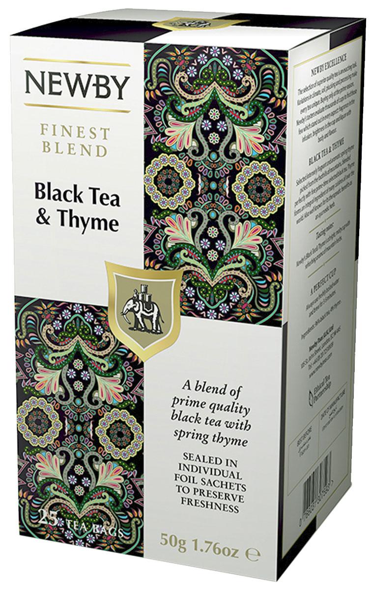 Newby Black Tea and Thym черный чай с чабрецом в пакетиках, 25 шт310090Насыщенный черный чай Newby Black Tea and Thym с терпким ароматом горного чабреца придаст сил и согреет вас в любое время дня.