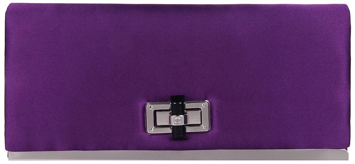 Клатч женский Eleganzza, цвет: фиолетовый. ZZ-1342023008Стильный женский клатч Eleganzza выполнен из полиэстера.Изделие имеет одно основное отделение, внутри которого имеется открытый накладной карман. Закрывается клатч на клапан с поворотным замком. Нижняя часть передней стенки оформлена металлической вставкой.Модель оснащена плечевым ремнем в виде цепочки.Роскошный клатч внесет элегантные нотки в ваш образ и подчеркнет ваше отменное чувство стиля.