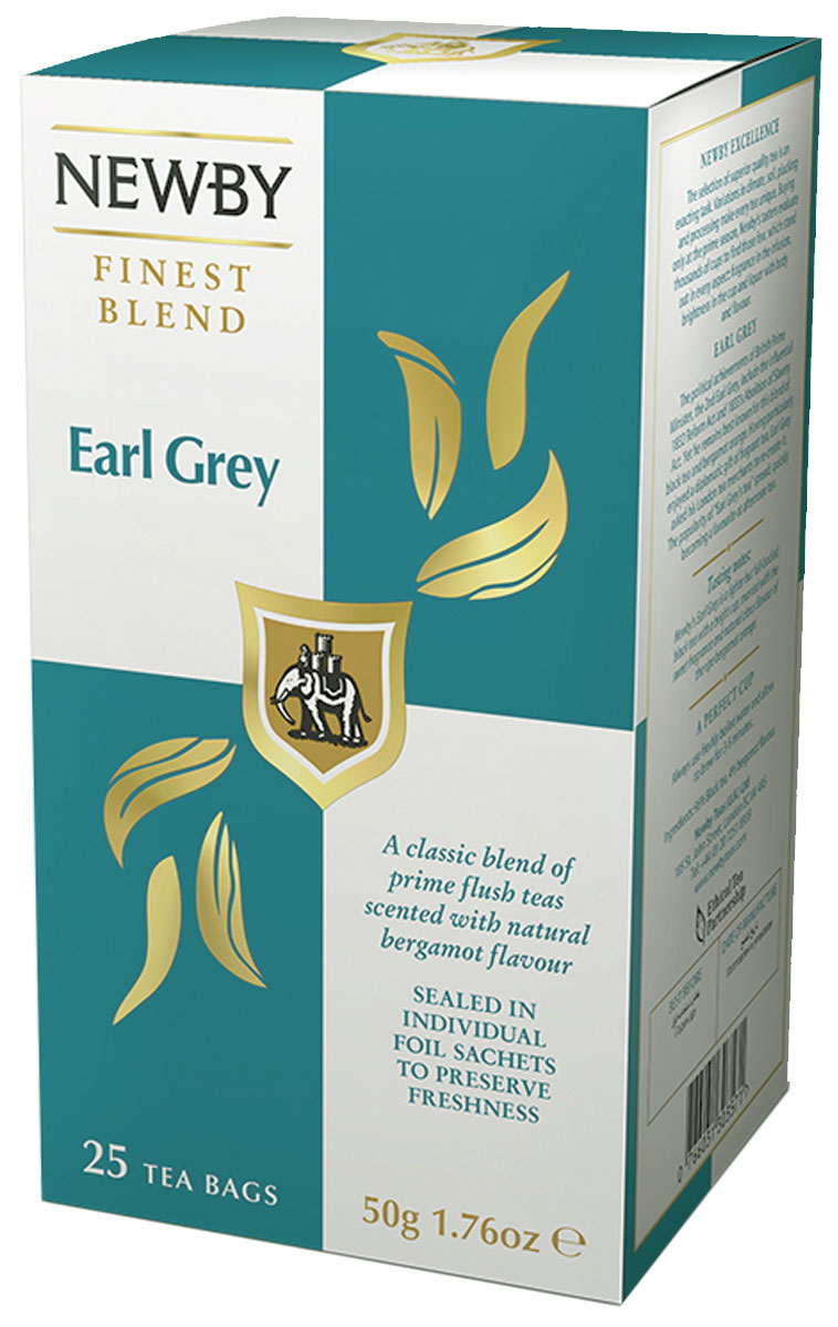 Newby Earl Grey Newby черный чай в пакетиках, 25 шт newby chocolate