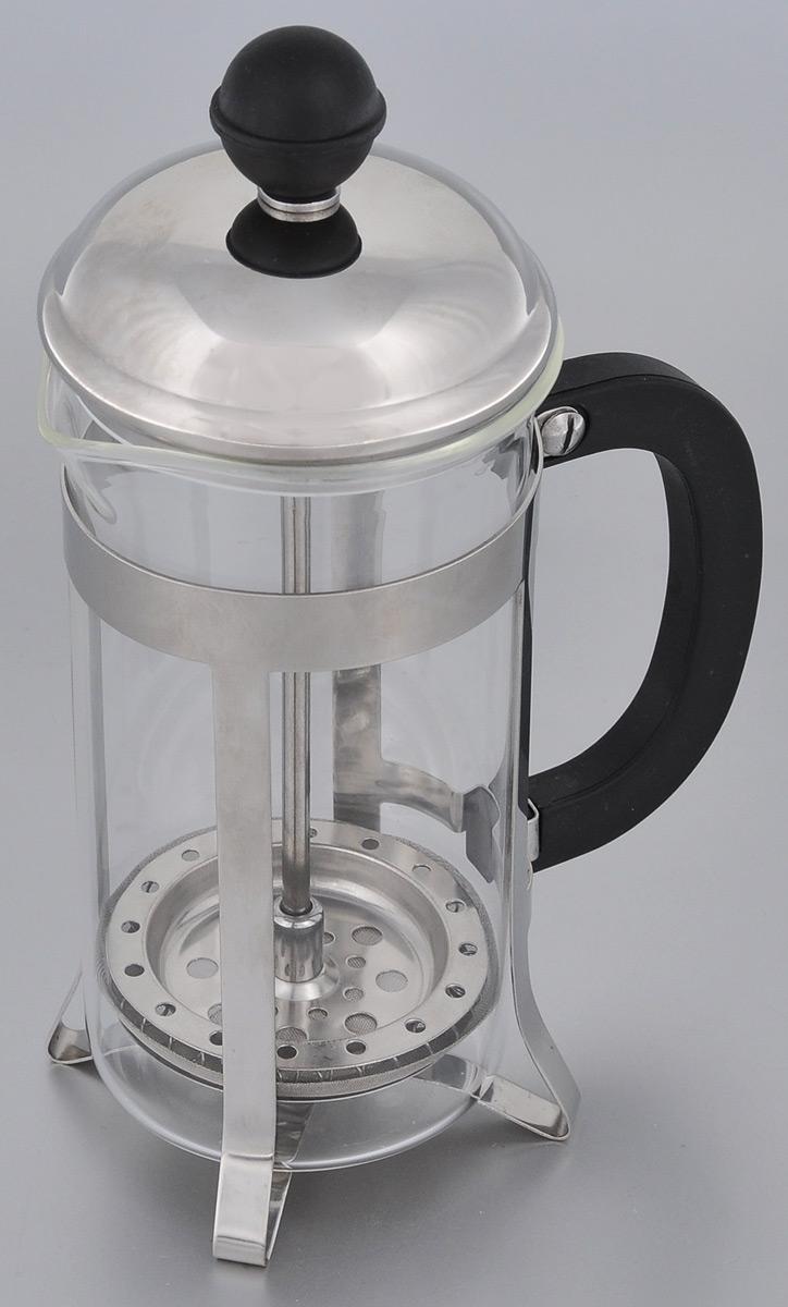 Френч-пресс Miolla, 350 мл115510Френч-пресс Miolla используется для заваривания кофе, крупнолистового чая, травяных сборов. Изготовлен из высококачественной нержавеющей стали и упрочненного термостойкого стекла, выдерживающего высокую температуру, что придает ему надежность и долговечность. Пластиковая рукоятка и ручка крышку выполнены из прочного нетоксичного пластика.Не использовать в микроволновой печи. Нельзя мыть в посудомоечной машине.