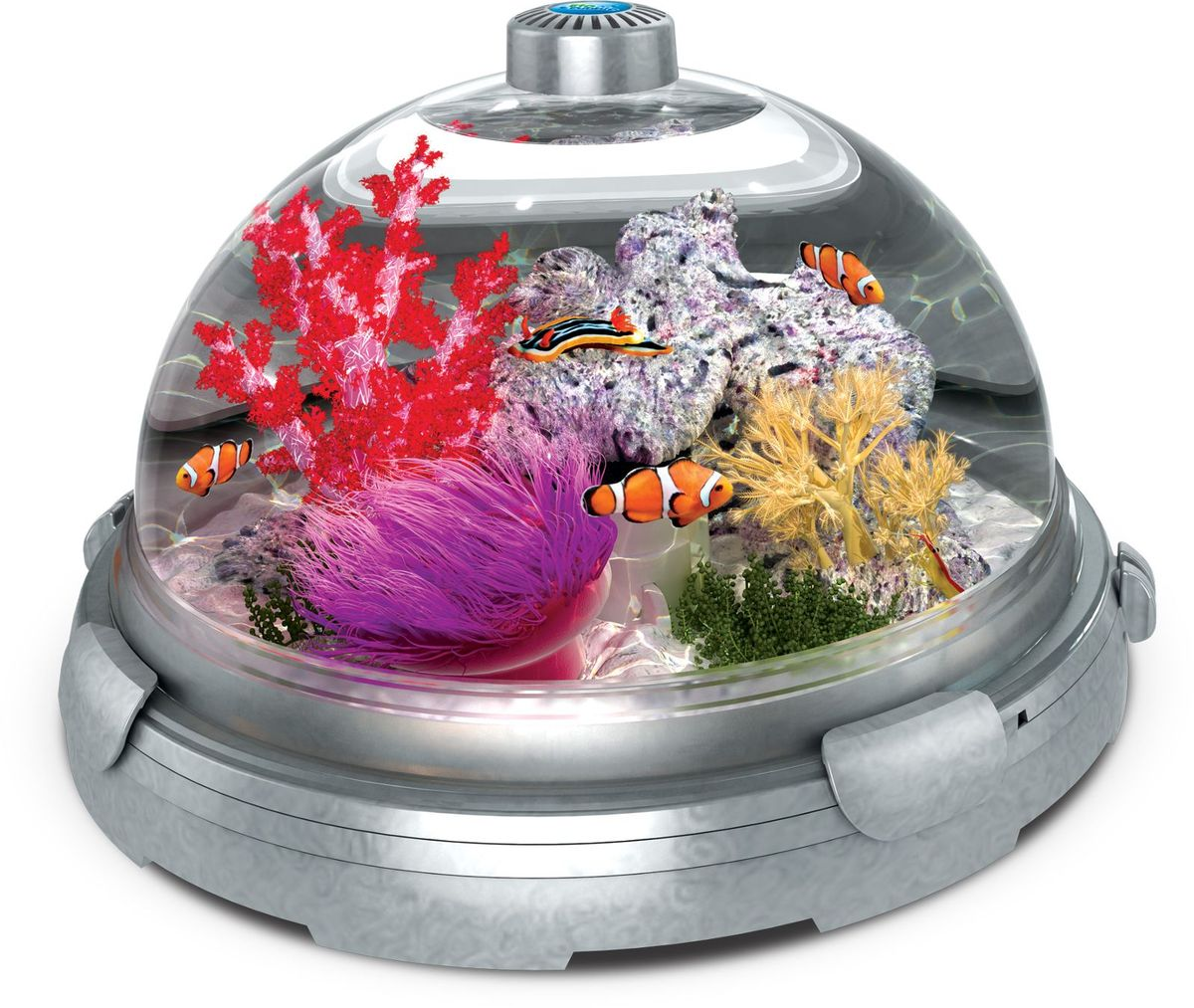 Комплект-аквариум  BioBubble Aquarium Bundle , цвет: серебристый + подарок-декор  Будда