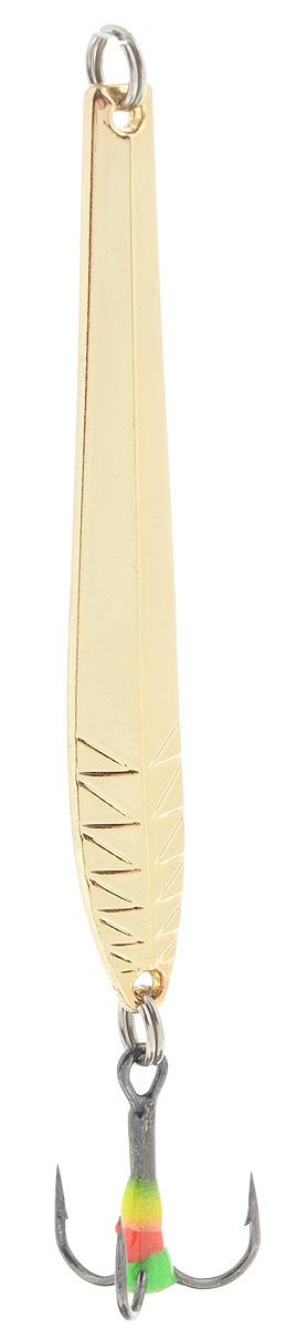 Блесна зимняя SWD, цвет: золотой, 60 мм, 5 гLJME47-208Блесна зимняя SWD - это классическая вертикальная блесна. Выполнена из высококачественного металла. Предназначена для отвесного блеснения рыбы. Блесна оснащена тройником со светонакопительной каплей.