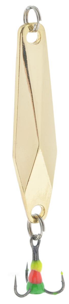 Блесна зимняя SWD, цвет: золотой, 48 мм, 7 г41329Блесна зимняя SWD - это классическая вертикальная блесна. Выполнена из высококачественного металла. Предназначена для отвесного блеснения рыбы. Блесна оснащена тройником со светонакопительной каплей.