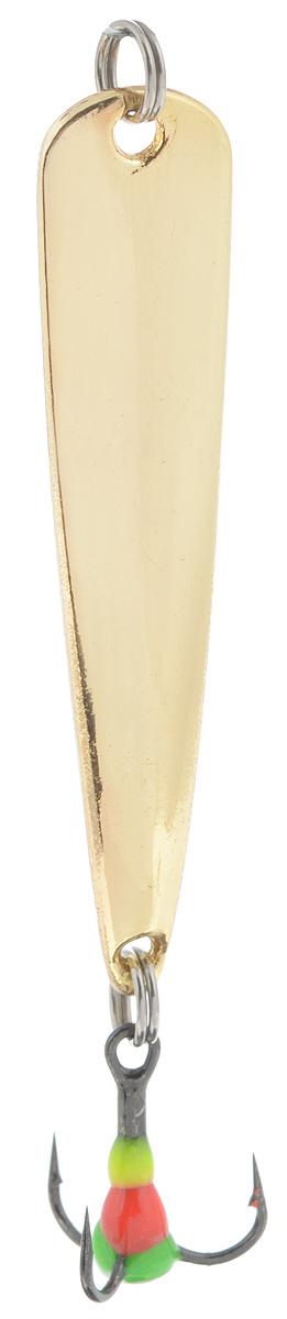 Блесна зимняя SWD, цвет: золотой, 50 мм, 4 г49727Блесна зимняя SWD - это классическая вертикальная блесна. Выполнена из высококачественного металла. Предназначена для отвесного блеснения рыбы. Блесна оснащена тройником со светонакопительной каплей.