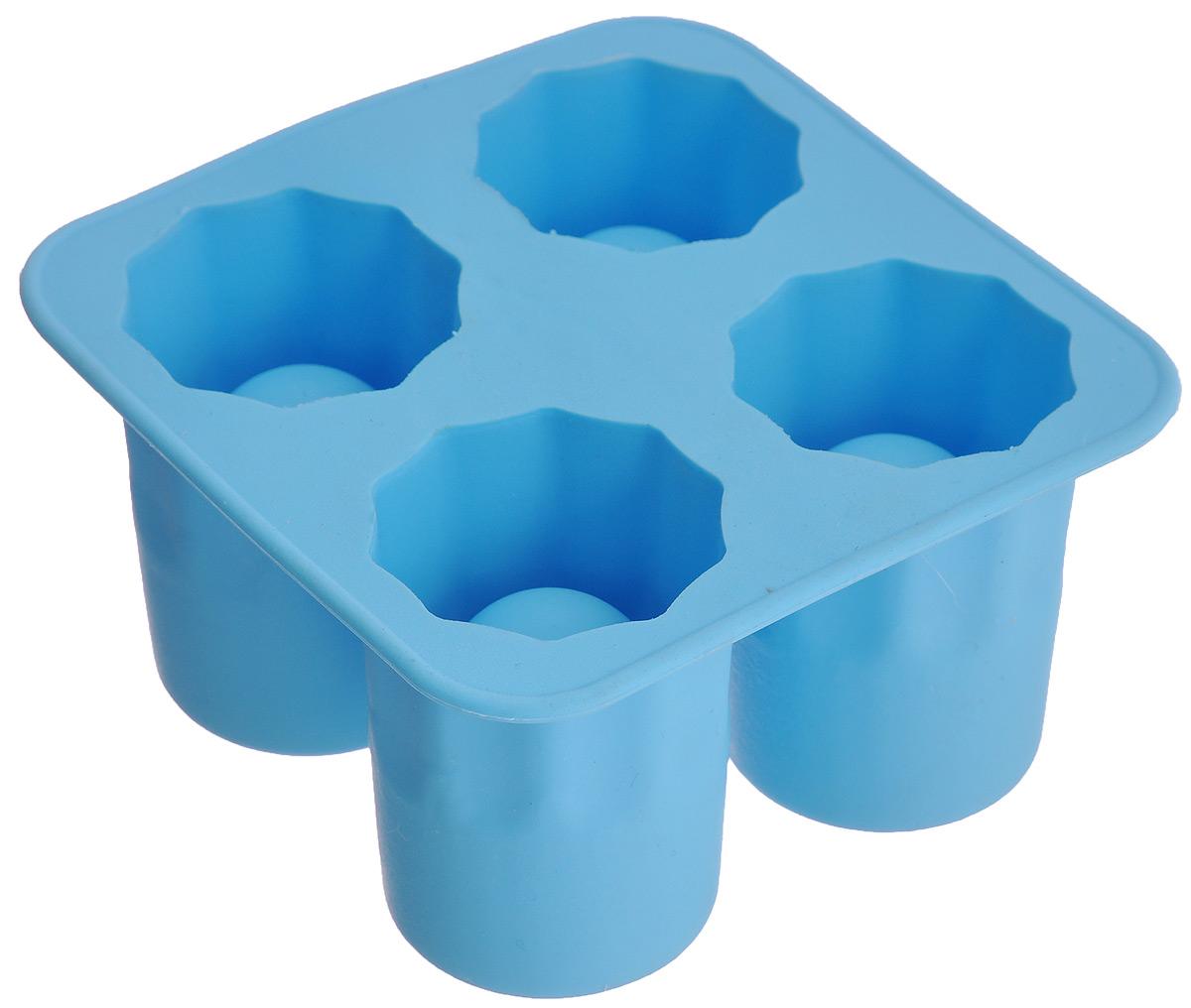 Форма для льда Bradex Ледяные стопки420706 желтыйФорма для льда Bradex Ледяные стопки изготовлена из пищевой термопластичной резины. Форма содержит 4 ячейки, которые помогут сделать не просто фигурный лед, а настоящие стопки изо льда. Налейте воду в форму, поставьте ее в морозильную камеру, и ледяные стопки готовы! В такой рюмке ваши любимые горячительные напитки моментально остынут до нужной температуры. Ледяные стопки не нужно мыть: оставьте их в раковине, они сами растают. Фантазируйте! Стопки можно делать из любой жидкости. Заливайте в форму сок, молоко или другие жидкости, чтобы удивлять своих друзей оригинальными ледяными стопками! Размер стопки: 4 см х 3,8 см х 5,5 см. Общий размер формы: 10 см х 10 см х 5,5 см.
