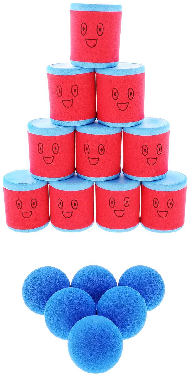 Safsof Игровой набор Городки цвет красный голубой городки