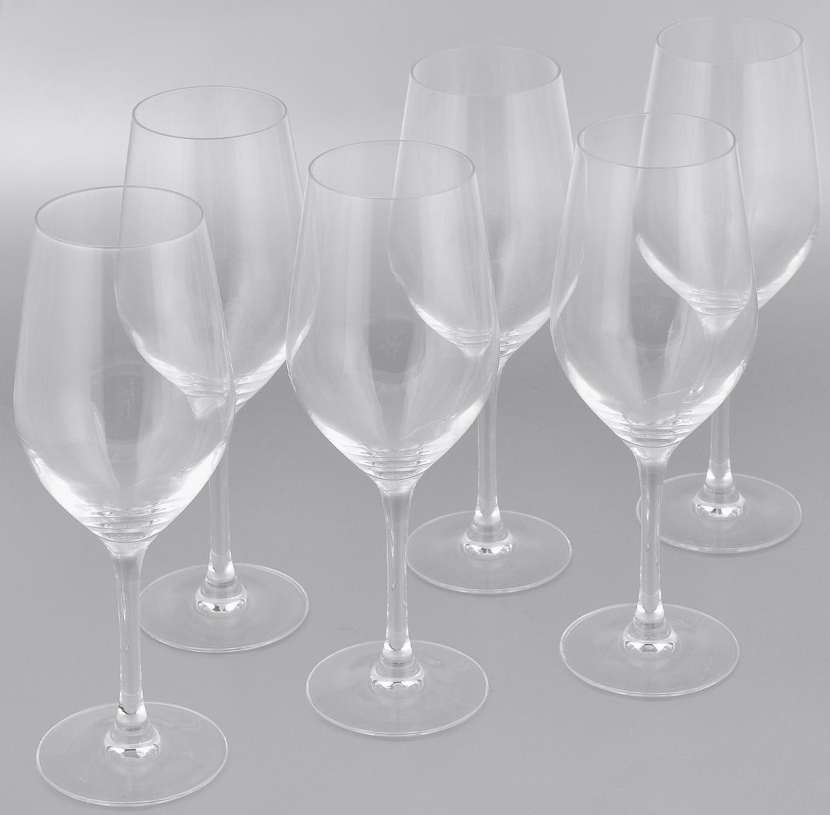 Набор фужеров для вина Luminarc Hermitage, 450 мл, 6 штVT-1520(SR)Набор Luminarc Hermitage состоит из шести фужеров, выполненных из прочного стекла. Изделия оснащены высокими ножками. Фужеры предназначены для подачи вина. Они сочетают в себе элегантный дизайн и функциональность. Благодаря такому набору пить напитки будет еще вкуснее.Набор фужеров Luminarc Hermitage прекрасно оформит праздничный стол и создаст приятную атмосферу за романтическим ужином. Такой набор также станет хорошим подарком к любому случаю. Диаметр фужера (по верхнему краю): 6,2 см. Высота фужера: 23,6 см.