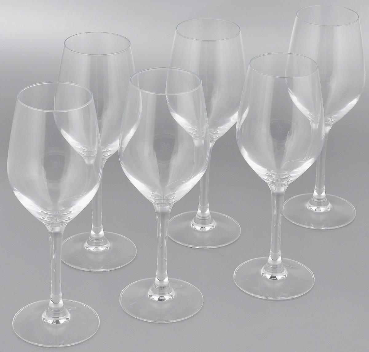 Набор фужеров для вина Luminarc Hermitage, 270 мл, 6 штVT-1520(SR)Набор Luminarc Hermitage состоит из шести фужеров, выполненных из прочного стекла. Изделия оснащены высокими ножками. Фужеры предназначены для подачи вина. Они сочетают в себе элегантный дизайн и функциональность. Благодаря такому набору пить напитки будет еще вкуснее.Набор фужеров Luminarc Hermitage прекрасно оформит праздничный стол и создаст приятную атмосферу за романтическим ужином. Такой набор также станет хорошим подарком к любому случаю. Диаметр фужера (по верхнему краю): 5,5 см. Высота фужера: 20,5 см.