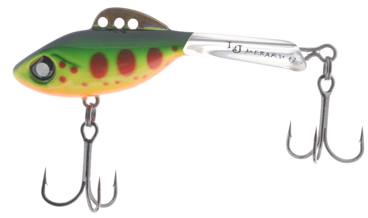 Балансир Lucky John Mebaru, цвет: зеленый, желтый, красный, 4,7 см, 8 гLJME47-201Lucky John Mebaru – балансир, разработанный в Японии, для ловли хищной рыбы со льда и в отвес с дрейфующей лодки. Приманка изготовлена из свинцового сплава с корпусом и хвостом, сформированными из цельного морозостойкого и ударопрочного пластика ABS. Длинный хвост обеспечивает четкие развороты приманки в крайних точках траектории движения. В спинном плавнике, изготовленном из латуни, имеется три отверстия. В зависимости от точки крепления, игра приманки изменяется. На приманке установлены крючки Owner.Рекомендуется для ловли судака, щуки, форели и окуня.