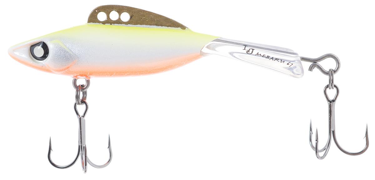 Балансир Lucky John Mebaru, цвет: желтый, белый, оранжевый, 6,7 см, 18 г4271825Lucky John Mebaru - балансир, разработанный в Японии, для ловли хищной рыбы со льда и в отвес с дрейфующей лодки. Приманка изготовлена из свинцового сплава с корпусом и хвостом, сформированными из цельного морозостойкого и ударопрочного пластика ABS. Длинный хвост обеспечивает четкие развороты приманки в крайних точках траектории движения. В спинном плавнике, изготовленном из латуни, имеется три отверстия. В зависимости от точки крепления, игра приманки изменяется. На приманке установлены крючки Owner.Рекомендуется для ловли судака, щуки, форели и окуня.
