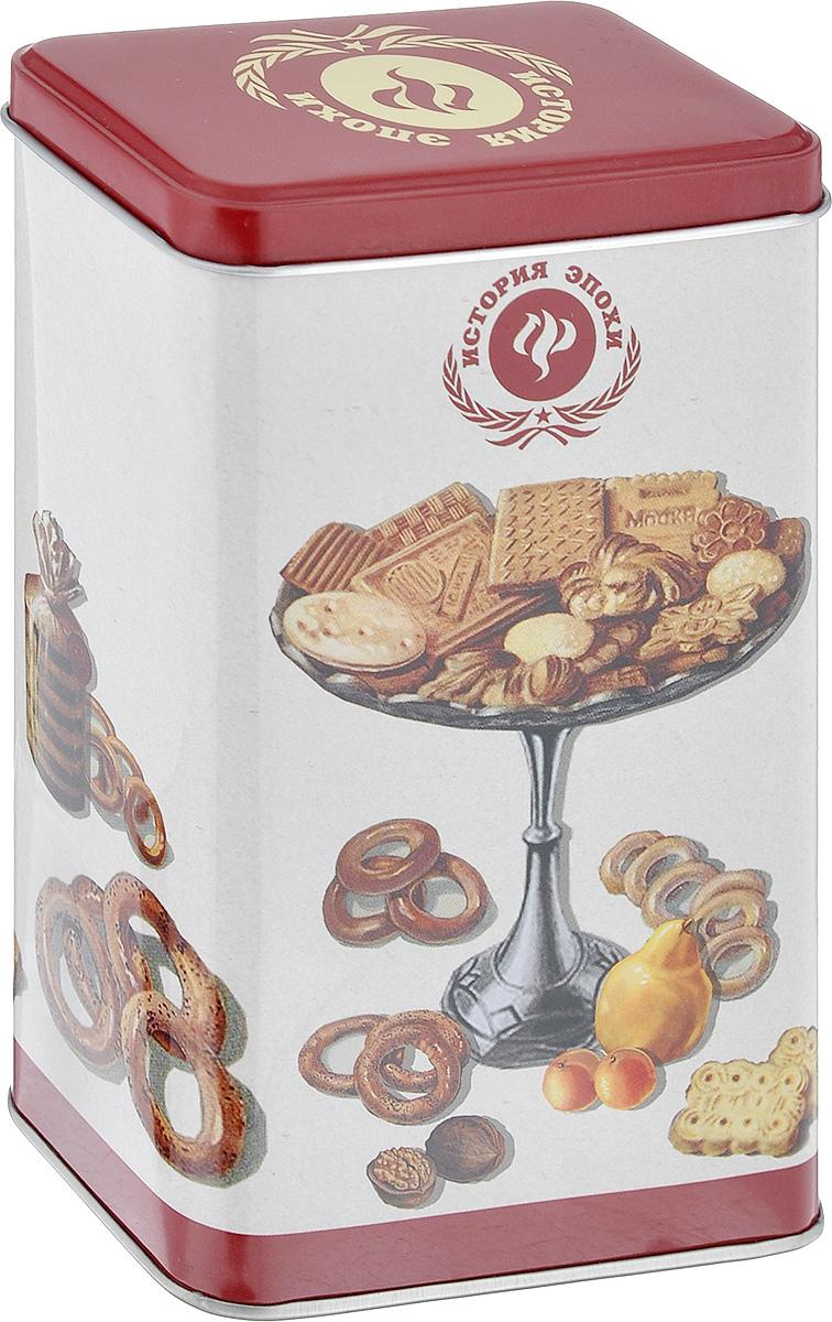 Емкость для сыпучих продуктов Феникс-Презент Печеньки, 800 мл37613Емкость для сыпучих продуктов Феникс-Презент Печеньки изготовлена из окрашенного черного металла. Изделие оформлено красочным изображением печенья и сушек. Плотно закрывается крышечкой. В такой емкости удобно хранить специи, соль, сахар, кофе, чай и другие сыпучие продукты. Такая емкость стильно дополнит любой кухонный интерьер, добавив немного ретро в окружающую обстановку.