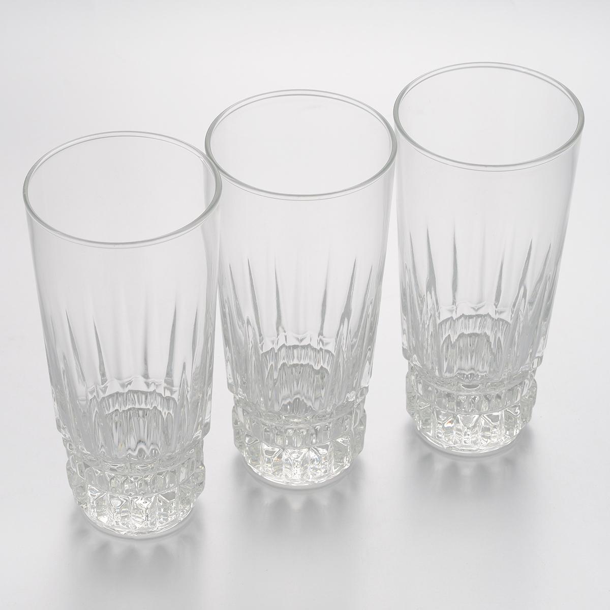 Набор стаканов Luminarc Imperator, 310 мл, 3 штVT-1520(SR)Набор Luminarc Imperator состоит из трех стаканов, выполненных из высококачественного стекла.Изделия предназначены для подачи воды и других безалкогольных напитков. Они отличаютсяособой легкостью ипрочностью, излучают приятный блеск и издают мелодичный хрустальный звон.Стаканы станут идеальным украшением праздничного стола и отличным подарком к любомупразднику.Диаметр стакана (по верхнему краю): 7 см.Высота: 15 см.