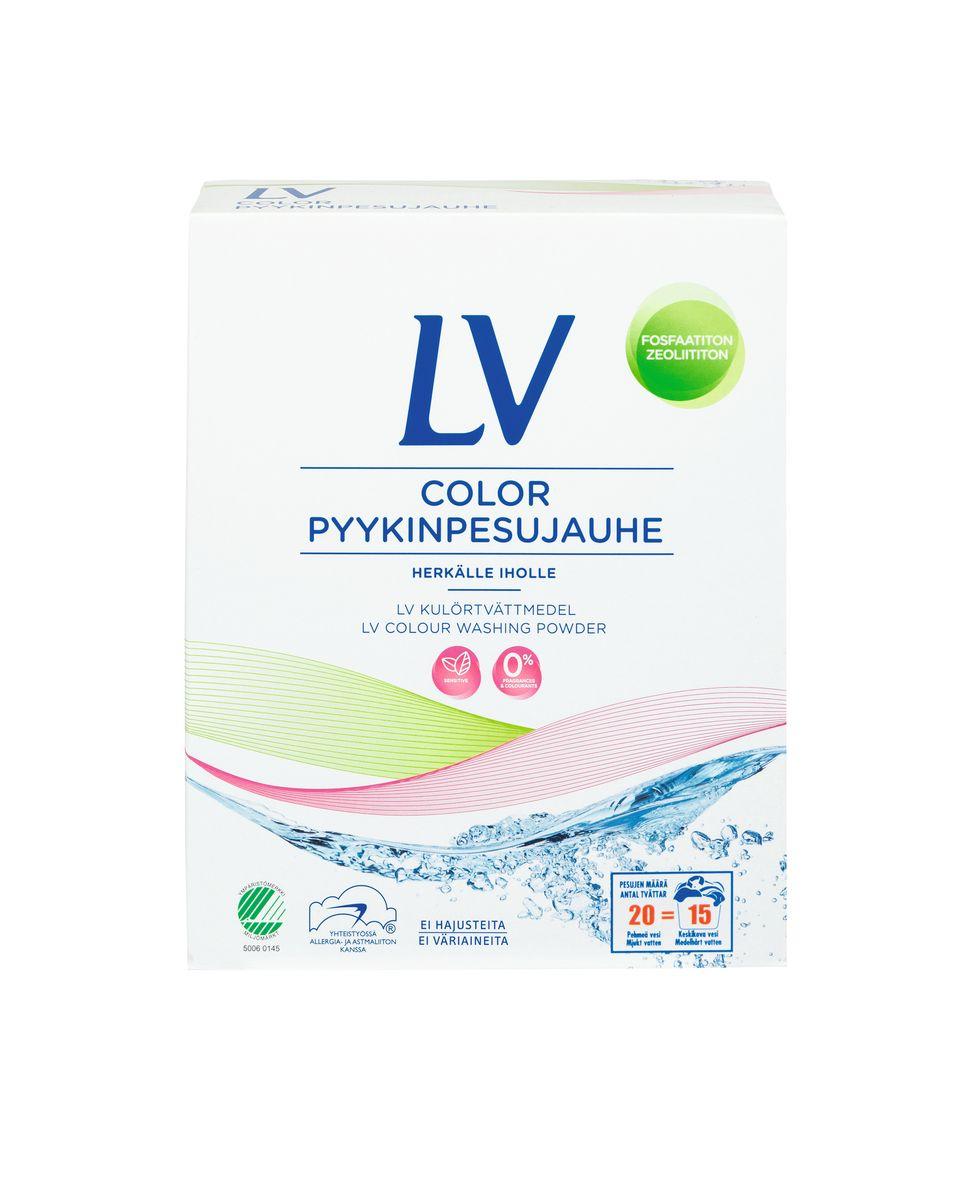 Berner LV Концентрированный стиральный порошок COLOR 750 гGC204/30Концентрированный стиральный порошок для чувствительной кожи (22 машинных стирки, 15ручных стирок). Не содержит ароматическиедобавки, красители, цеолит, фосфат, оптическиеотбеливатели, РН 9,7.Хорошо выполаскивается из белья. Для стиркиизделий из цветных тканей, как в стиральноймашине любого типа, так и вручную. Нерекомендуется использовать стиральный порошок LV для мытья рук. Для болеетщательной стирки или замачивания,используйте распределитель стиральноймашины. Подходит для детского белья.Товар сертифицирован.