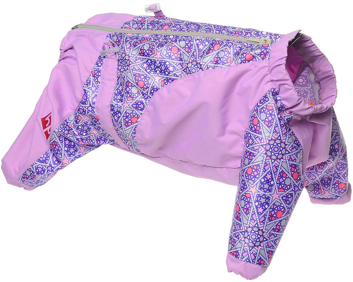 Комбинезон для собак Happy Puppy  Звездочка , для девочки, цвет: сиреневый. Размер 3 (L) - Одежда, обувь, украшения