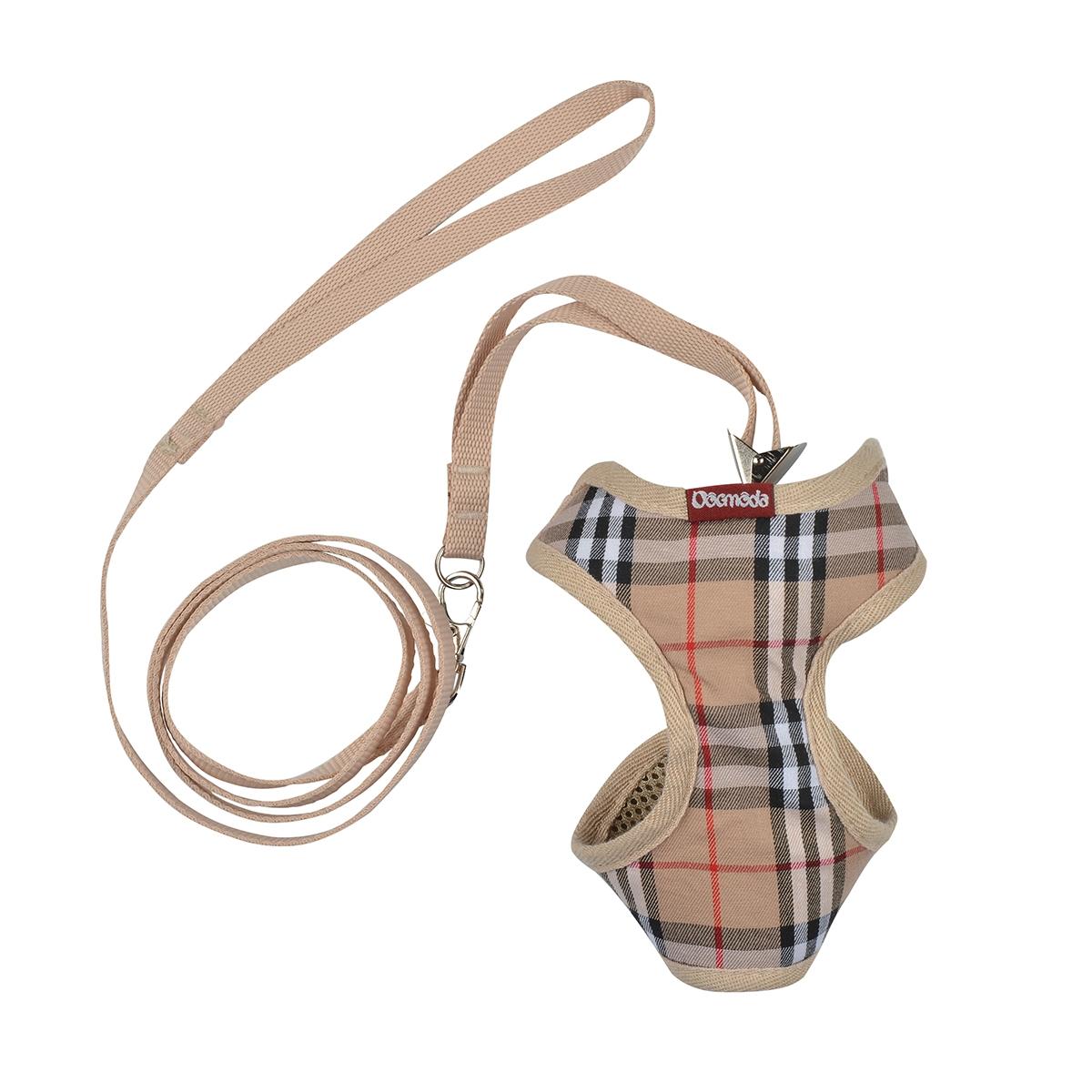 Dogmoda Комплект Клетка (шлейка и поводок) размер 10120710Комплект для прогулки Клетка, состоящий из шлейки и поводка. Выполнен из мягкого хлопка.