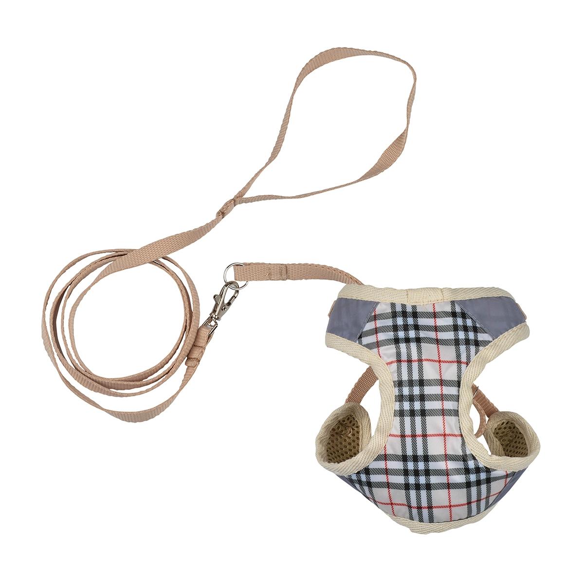 Dogmoda Комплект Ватсон (шлейка и поводок) размер 40120710Комплект для прогулки Ватсон, состоящий из шлейки и поводка. Выполнен из практичной моющейся ткани.