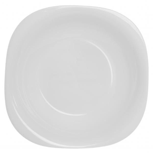 Тарелка глубокая Luminarc Carine, 21 х 21 см115610Глубокая тарелка Luminarc Carine выполнена из ударопрочной стеклокерамики Zenix, устойчивой к трению, механическим повреждениям и резким перепадам температуры. Служит для подачи первых блюд и вмещает 450 мл жидкости (до самого края). Комфортно в тарелку помещаются 3 половника супа, при этом она не будет заполнена до самого края. Благодаря прекрасному эстетическому виду и высочайшему качеству, тарелка удовлетворит самые высокие предпочтения современных домохозяек и гурманов. Пригодна для использования в посудомоечной машине и СВЧ.