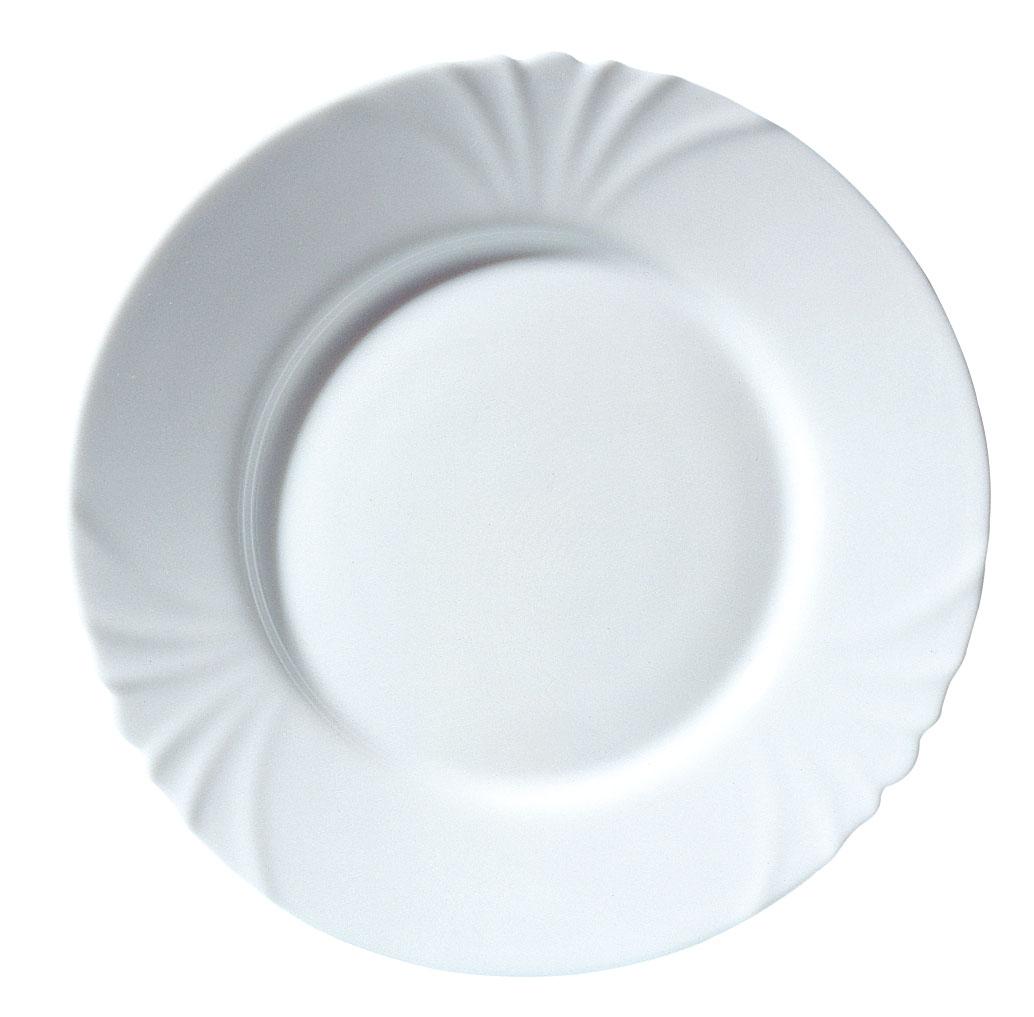 Тарелка Luminarc Cadix, диаметр 25 смH4132Тарелка Luminarc Cadix, диаметром 25 см, изготовлена из ударопрочного, закаленного стекла, способного выдерживать значительные перепады температуры. Благодаря простому и универсальному дизайну, тарелка может использоваться как в сфере гостинично-ресторанного бизнеса, так и дома.Не нуждается в особо бережном уходе и подходит для использования в посудомоечной машине и СВЧ.