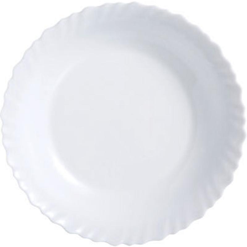 Блюдо Luminarc Festion, диаметр 28 см115610Блюдо Luminarc Feston изготовлено изударопрочного стекла.Диаметр блюда (по верхнему краю): 28 см.