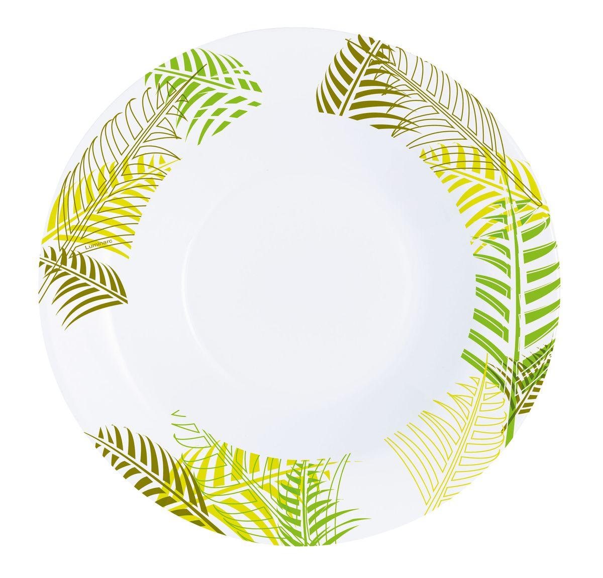 Тарелка глубокая Luminarc Green Forest, диаметр 22 см115510Глубокая тарелка Luminarc Green Forest, диаметром 22 см, выполнена из ударопрочной стеклокерамики. Служит для подачи первых блюд и вмещает 450 мл жидкости (до самого края). Комфортно в тарелку помещаются 3 половника супа, при этом она не будет заполнена до самого края. Благодаря прекрасному эстетическому виду и высочайшему качеству, тарелка удовлетворит самые высокие предпочтения современных домохозяек и гурманов. Пригодна для использования в посудомоечной машине и СВЧ.