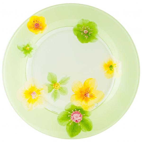 Тарелка Luminarc Poeme Anis, диаметр 25 см115510Тарелка Luminarc Poeme Anis, диаметром 25 см, изготовлена из ударопрочного, закаленного стекла, способного выдерживать значительные перепады температуры. Она подойдет для сервировки вторых блюд, а также ее можно использовать, как блюдо для подачи закусок. Современный дизайн и изящный цветочный декор сделают тарелку достойным украшением ваших любимых блюд.Тарелка не нуждается в особо бережном уходе, её можно мыть в посудомоечной машине и использовать в СВЧ.