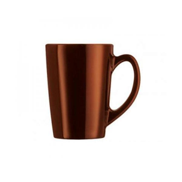 Кружка Luminarc Flashy Colors, цвет: коричневый, 320 млJ1124Кружка Luminarc Flashy Colors, изготовленная из высококачественного ударопрочногостекла, оснащена эргономичной ручкой. Кружка прекрасно дополнит интерьер любой кухни. Яркий дизайн изделия придется по вкусу и ценителям классики, и тем, кто предпочитает утонченность и изысканность.Подходит для использования в посудомоечной машине.Диаметр кружки (по верхнему краю): 8 см.Высота кружки: 11,5 см.Объем кружки: 320 мл.