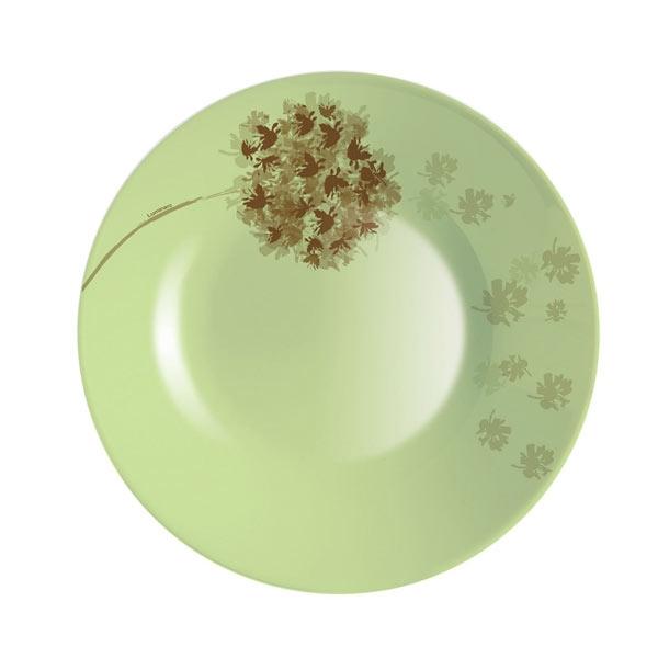Тарелка глубокая Luminarc Stella, диаметр 21,5 см115510Глубокая тарелка Stella известной французской марки Luminarc придется по вкусу любой хозяйке. Нежный оливковый цвет и приятный рисунок добавят тепла и уюта ежедневному обеду или ужину. Тарелка изготовлена из качественного ударопрочного стекла, которое долговечно, не впитывает запахи и обладает антибактериальными свойствами. Она подходит для использования в СВЧ-печах и посудомоечной машине.