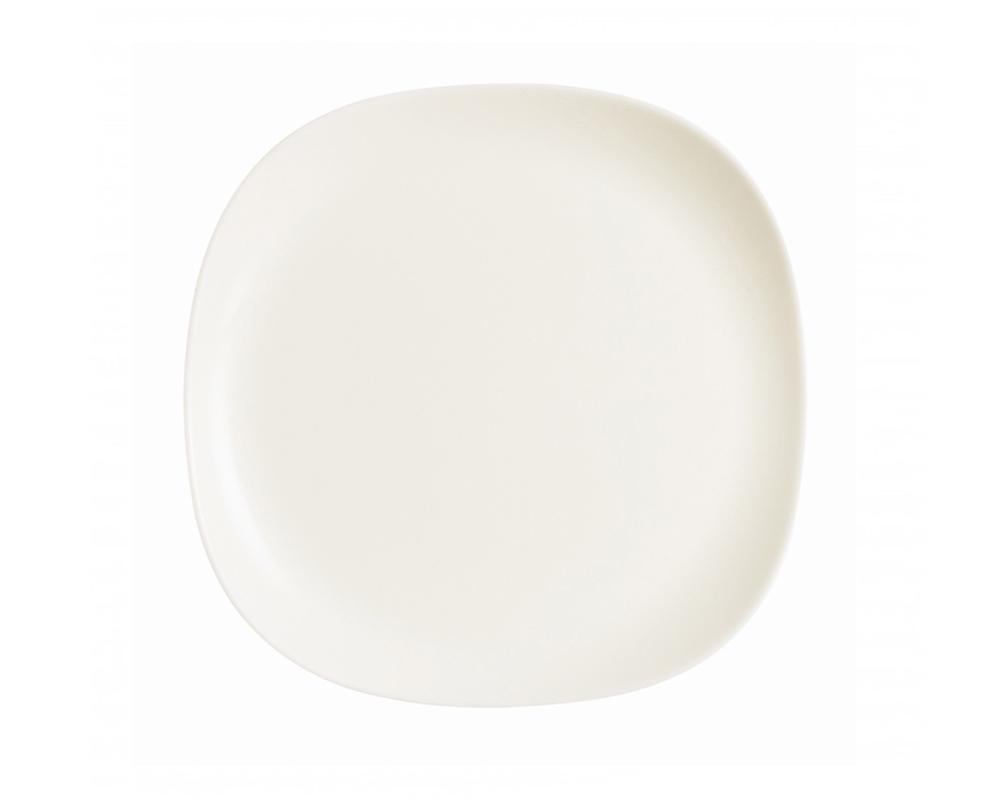 Тарелка десертная Luminarc Yalta, цвет: белый, 20 х 20 см1035442Десертная тарелка марки Luminarc, выполненная в необычной форме, подчеркнет лучшие стороны любого сладкого блюда. Стильная тарелка придется по душе любителям однотонной посуды в стиле модерн. Изготовленная из качественного ударопрочного стекла, она надолго сохранит первоначальный внешний вид. Десертную тарелку можно мыть в посудомоечной машине и использовать в СВЧ-печи.
