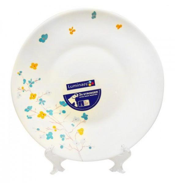 Тарелка глубокая Luminarc Zen Essence, диаметр 22 см54 009312Глубокая тарелка марки Luminarc, украшенная асимметричным цветочным рисунком, придется по душе любителям столовой посуды в современном стиле. Тарелка предназначена для подачи первых блюд, она подойдет и для ежедневной, и для торжественной сервировки. Глубокая тарелка, изготовленная из качественного ударопрочного стекла, надолго сохранит первоначальный внешний вид. Благодаря высокому качеству нанесения рисунка, ее безопасно мыть в посудомоечной машине и использовать в микроволновой печи.