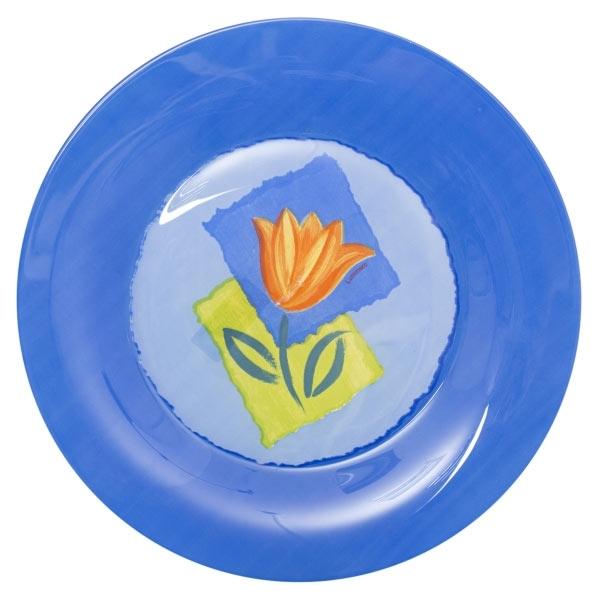 Тарелка Luminarc Melys Azur, диаметр 25 см115510Тарелка Luminarc Melys Azur, диаметром 25 см, изготовлена из ударопрочного, закаленного стекла, способного выдерживать значительные перепады температуры. Рисунок надежно защищен, именно поэтому тарелку можно использовать в посудомоечной машине. Тарелка предназначена для сервировки вторых блюд.