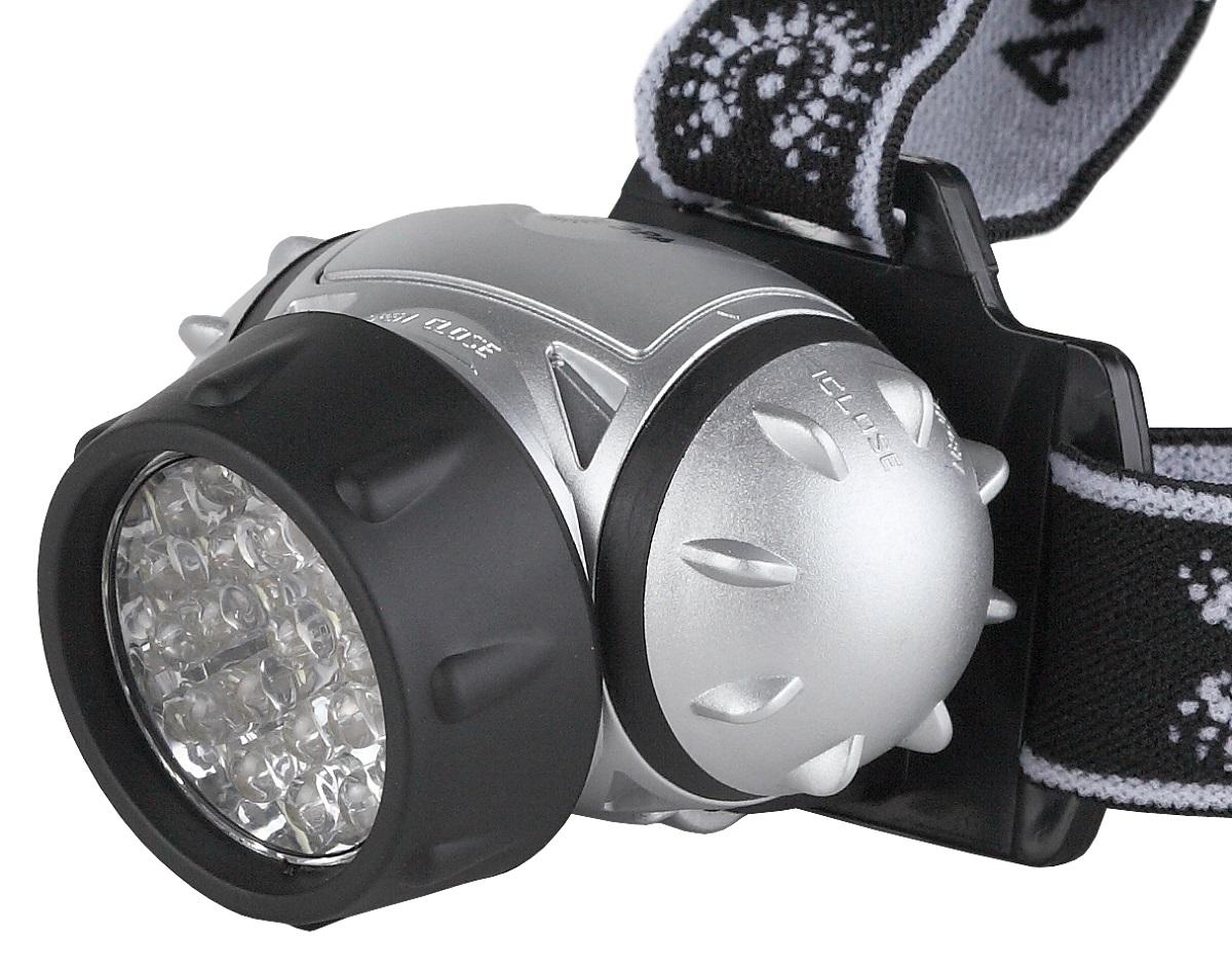 Фонарь налобный ЭРА G23, цвет: черный, серебряный67744Светодиодный налобный фонарь: 23 белых светодиода 4 режима работы 3xAAA (в комплект не входят).105 лм