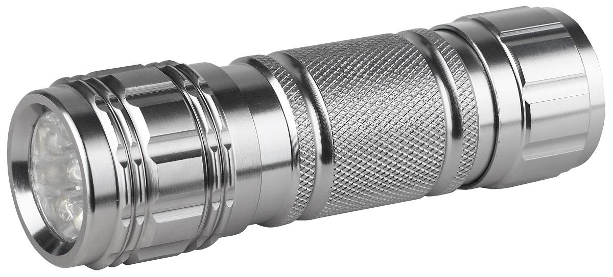 Фонарь ручной Эра, цвет: металлKOCAc6008LEDСветодиодный алюминиевый фонарьЭра имеет следующие характеристики: 9 белых светодиодовРемешок для запястья 3 x AAA (в комплект не входят) 34 лм.
