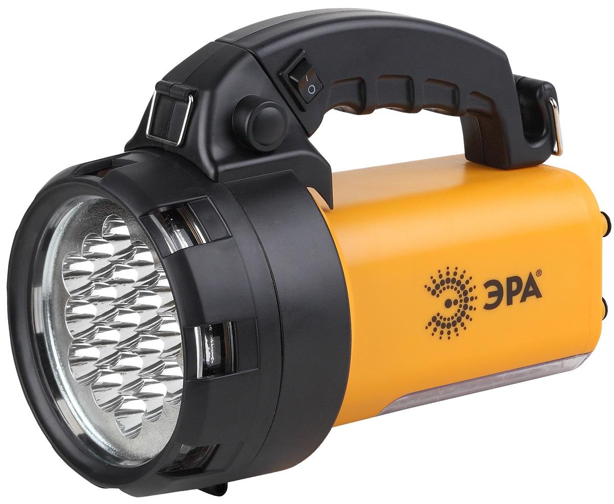 Фонарь ручной ЭРА FA65M, цвет: черный, желтыйKOC2028LEDАккумуляторный светодиодный фонарь: 19 белых LED + 24 LED Аккумулятор 6V 4.5Ah подзарядка от сети 220V и бортовой сети автомобиля 12V ремень для переноски на плече. 145 лм