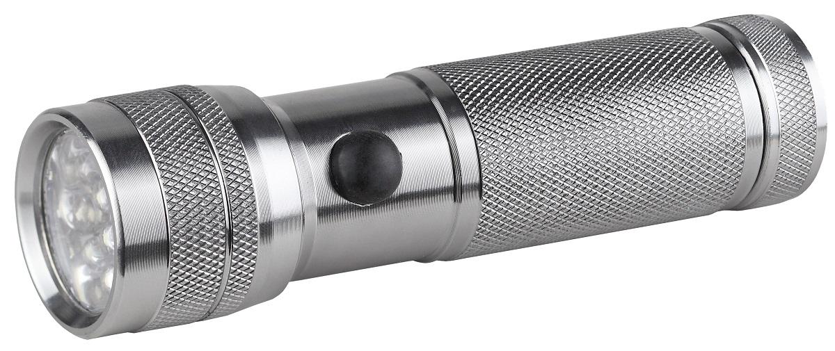 Фонарь ручной ЭРА SD14, цвет: металлCL25RGСветодиодный алюминиевый фонарь:14 белых светодиодов ремешок для запястье 3xAAA (в комплект не входят) 45 лм