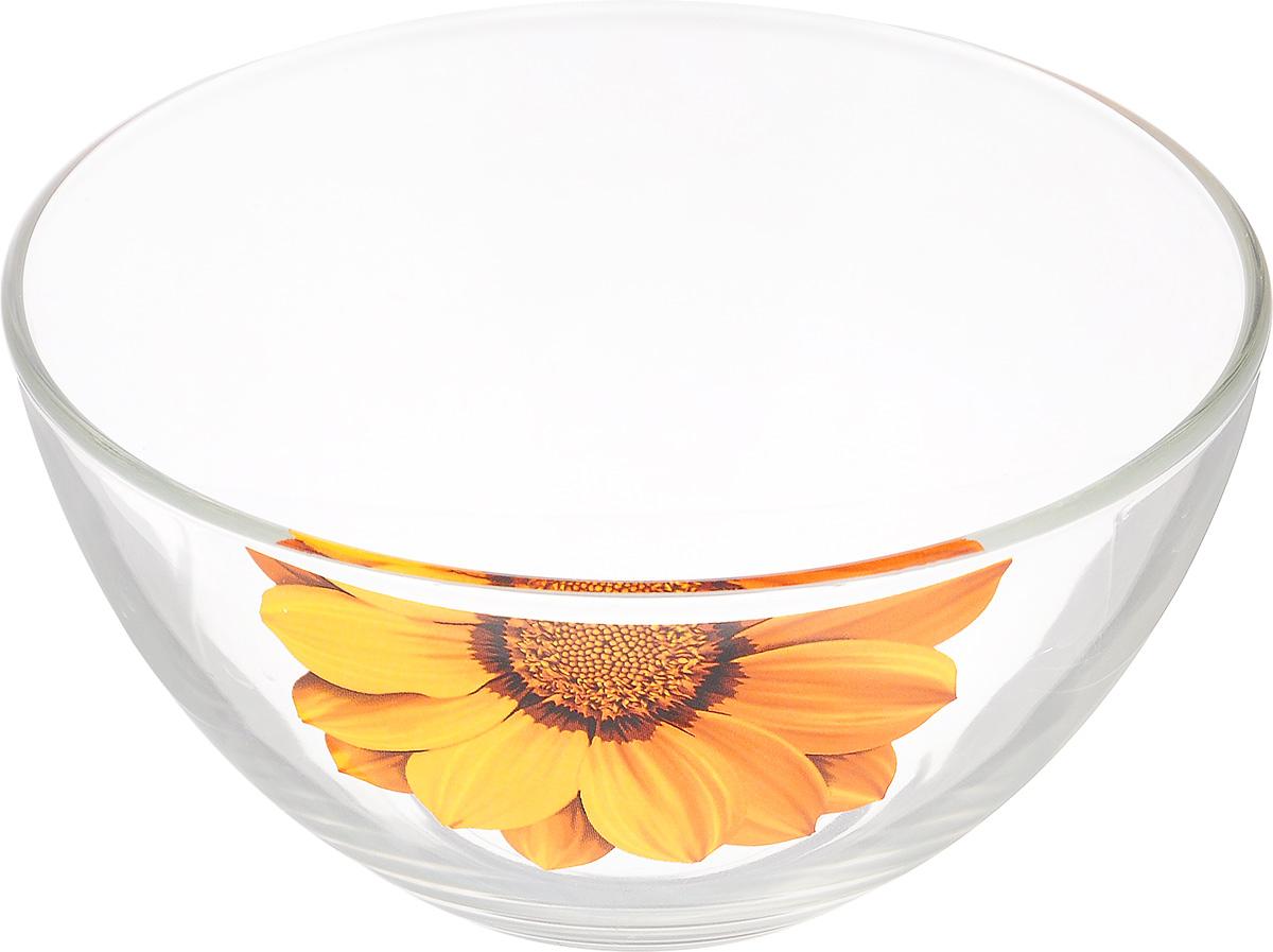 Салатник OSZ Георгин, цвет: желтый, прозрачный, диаметр 15 см115510Салатник OSZ Георгин изготовлен из бесцветного стекла и украшен ярким рисунком. Идеально подходит для сервировки стола.Салатник не только украсит ваш кухонный стол и подчеркнет прекрасный вкус хозяйки, но и станет отличным подарком. Диаметр салатника (по верхнему краю): 15 см. Диаметр основания: 7 см. Высота салатника: 7,5 см.