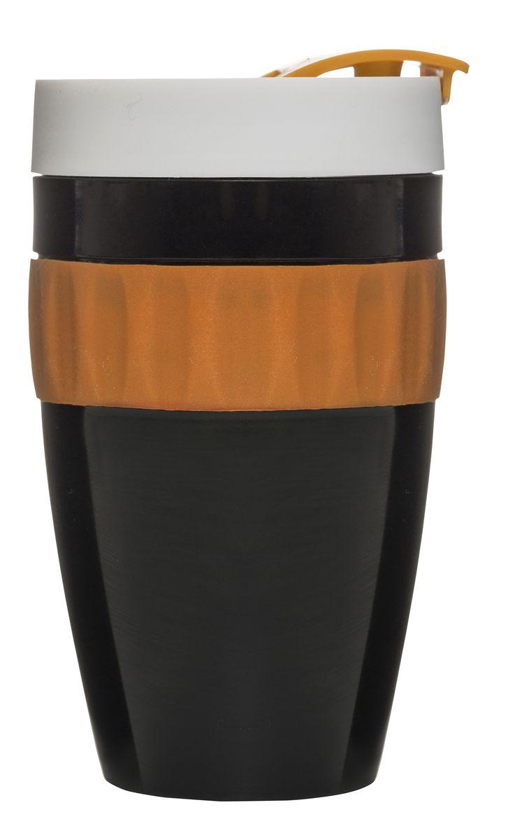 Термокружка черный/оранжевый/белый. 5017154115510Стильная, яркая, качественная термокружка от Сагаформ – это мечта тех, кто постоянно находится в пути. Она предназначена для любых напитков, сохраняя тепло чая или прохладу сока. Благодаря высокой герметичности вы можете брать ее с собой без тени сомнений. Напиток не будет пролит, а сумка, одежда или салон авто останутся чистыми. Кружка выполнена в сочных тонах. Черный, оранжевый, белый – эти цвета приковывают взгляды и вносят разнообразие в серость дней. Вы можете сделать приятный подарок родным или друзьям, вызвав бурю восторга!