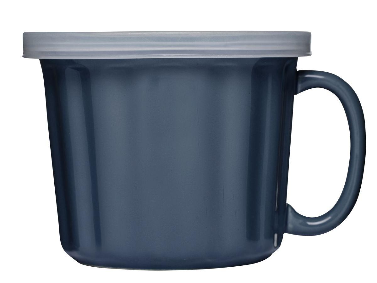 Бульонница Sagaform, с крышкой, 500 млJ1129Бульонница Sagaform с крышкой – это полезный аксессуар. Ее можно использовать и дома, и в ходе поездок на природу, и на работе. Она герметична и исключает проливание. Вы всегда можете взять горячий суп или использовать ее для напитков, чтобы в любое время утолить голод или жажду.Бульонница вместительна и удобна. Она изготовлена из керамики и предложена для вас в насыщенном синем цвете. Материал изготовления крышки – высококачественный пластик.Здесь все так, как требуют современные стандарты. Ведь мастера Sagaform заботятся о вашем здоровье, окружая комфортом!Объем бульонницы: 500 мл.Диаметр бульонницы (по верхнему краю): 11,5 см.Высота бульонницы (без учета крышки): 10 см.