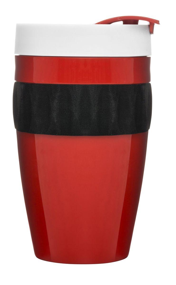 Термокружка красный/черный/белый. 5017315115610Термокружка коллекции Cafe – это приятный дизайн и отличное качество. Надежная конструкция в переплетении с высокой герметичностью позволяют сохранить температуру напитка и защищают от проливания. Вы сможете насладиться горячим чаем в пути, не теряя время на поиски кафе. При создании кружки использован высококачественный пластик. Но внимание приковывают не только превосходные материалы – яркая расцветка тоже играет не последнюю роль. Сочетание белого, красного и черного оттенков подчеркнет индивидуальность натуры и привнесет в жизнь позитив!