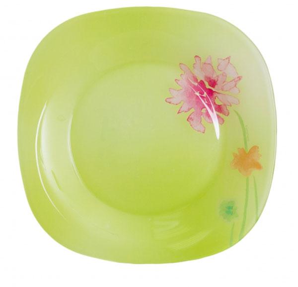 Тарелка десертная Luminarc Angel Green, 18 х 18 см54 009312Десертная тарелка Luminarc Angel Green, изготовленная из ударопрочного стекла, декорирована изображением цветов. Такая тарелка прекрасно подходит как для торжественных случаев, так и для повседневного использования. Идеальна для подачи десертов, пирожных, тортов и многого другого. Она прекрасно оформит стол и станет отличным дополнением к вашей коллекции кухонной посуды. Размер тарелки (по верхнему краю): 18 см х 18 см.
