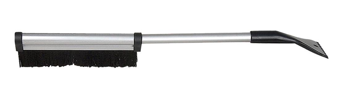 Щетка для снега Sapfire, со скребком и телескопической ручкой, цвет: черный, 42-64 смVCA-00Щетка Sapfire предназначена для удаления снега и льда. Имеет легкую поворотную телескопическую рукоятку из прочного алюминиевого сплава. Удобная выдвижная рукоятка облегчает процесс чистки крыши автомобиля. Мягкая щетина, изготовленная из прочного полимера, бережно удаляет снег, не царапая лакокрасочное покрытие. Щетка оснащена мощным скребком с зубьями для толстого льда.Ширина скребка: 9,5 см.Длина рабочей части щетки: 25,5 см.Максимальная длина щетки: 64 см.Минимальная длина щетки: 42 см.