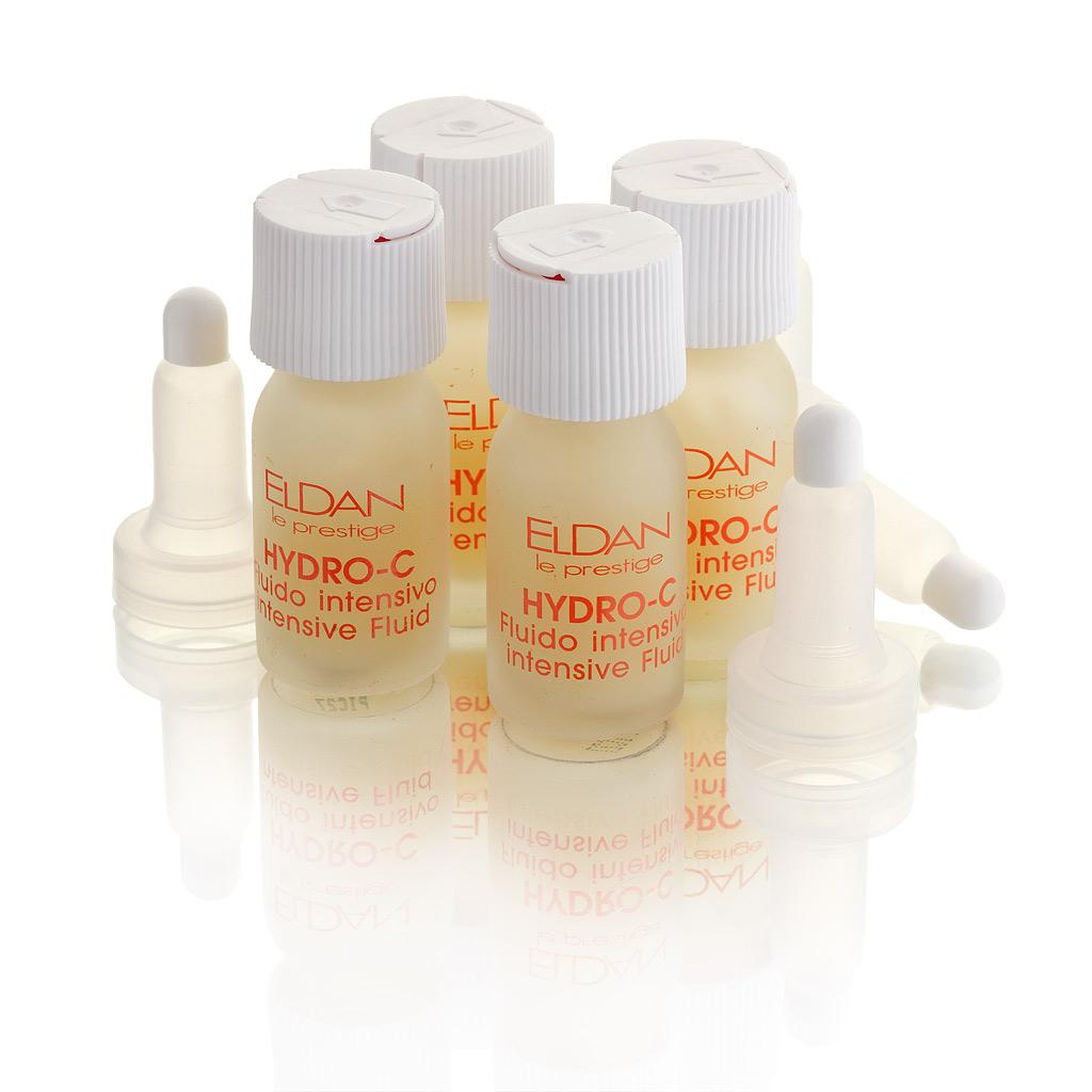 ELDAN cosmetics Интенсивная жидкость - флюид для лица Гидро С Le Prestige, 4х7млELD-17Флюид обладает высокой биологической активностью, регенеративными и антиоксидантными совйствами, осветляет пигментные пятна, укрепляет стенки сосудов, стимулирует синтез коллагена, улучшает внешний вид кожи.