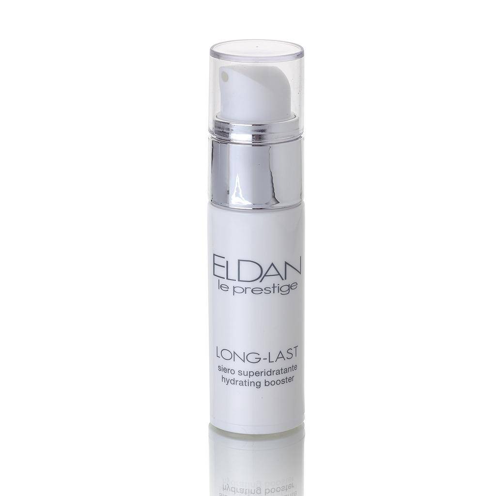 ELDAN cosmetics Флюид-гидробаланс для лица с эктоином Le Prestige, 30 млFS-00897Препарат обеспечивает длительное увлажнение и восстановление гидро-липидной мантии. Содержит гамму активных ингредиентов: эктоин, Bioami Skin, пантенол, которые способствуют комфорту и балансу увлажненности кожи в течение 24 часов. Эктоин относится к новому классу антиоксидантов в anti-age косметике, принимает участие в метаболизме клеток кожи и защищает их от старения, связанного, прежде всего, с негативным влиянием окружающей среды. Он обладает огромным потенциалом для стабилизации и защиты клеточных мембран и иммунной системы кожи, является «магнитом» для воды. Увлажняющее действие флюида усиливается низкомолекулярным аналогом гиалуроновой кислотой (Bioami Skin), которая не только удерживает влагу на поверхности эпидермиса, но и проникает глубоко в дерму, повышая ее влагоудерживающую способность и разглаживая морщины. Флюид-гидробаланс идеален для чувствительной кожи, разработан и протестирован с целью минимизировать риск возникновения аллергии, является прекрасной базой под макияж.