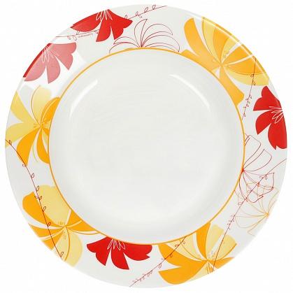 Тарелка Luminarc Romane Yellow, диаметр 22 см115510Тарелка Luminarc Romane Yellow выполнена из ударопрочного стекла и украшена изображением цветов. Она прекрасно впишется в интерьер вашей кухни и станет достойным дополнением к кухонному инвентарю. Тарелка Luminarc Romane Yellow подчеркнет прекрасный вкус хозяйки и станет отличным подарком. Диаметр тарелки (по верхнему краю): 22 см.