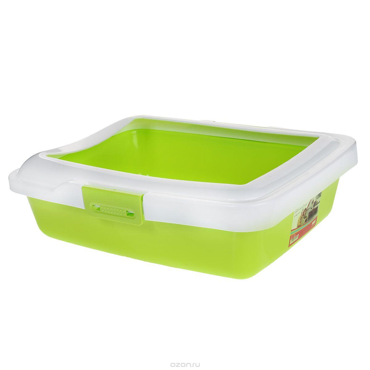Туалет для кошек Savic Aristos Large, с бортом, цвет: салатовый, белый, 49,5 см х 39,5 см х 15 см0120710Туалет для кошек Savic Aristos Large изготовлен из качественного прочного пластика. Высокий борт, прикрепленный по периметру лотка замками, удобно защелкивается и предотвращает разбрасывание наполнителя. Это простой и удобный в использовании предмет обихода для кошек и котов.