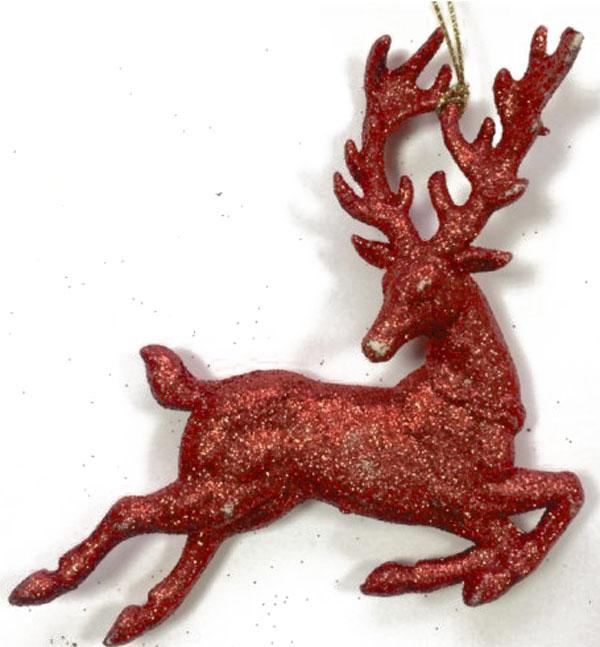 Новогоднее подвесное украшение Феникс-Презент Олень в прыжке, цвет: красныйCHL-320DRНовогоднее украшение Феникс-Презент Олень в прыжке, изготовленное из пластика, прекрасно подойдет для декорации вашего дома и новогодней ели. Украшение выполнено в виде оленя и украшено блестками. Изделие оснащено текстильной петелькой, с помощью которой его можно повесить в любом понравившемся вам месте. Елочная игрушка - символ Нового года. Она несет в себе волшебство и красоту праздника. Создайте в своем доме атмосферу веселья и радости, украшая всей семьей новогоднюю елку нарядными игрушками, которые будут из года в год накапливать теплоту воспоминаний.