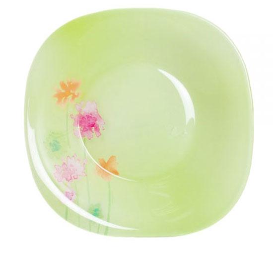 Тарелка глубокая Luminarc Angel Green, 20,5 см х 20,5 см115510Глубокая тарелка Luminarc Angel Green выполнена из ударопрочного стекла и украшена изображением цветов. Изделие сочетает в себеизысканный дизайн с максимальной функциональностью. Она прекрасно впишется в интерьер вашей кухни и станет достойным дополнением к кухонному инвентарю. Тарелка Luminarc Angel Green подчеркнет прекрасный вкус хозяйки и станет отличным подарком. Размер тарелки (по верхнему краю): 20,5 см х 20,5 см.