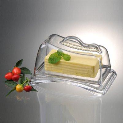 Масленка Prodyne115510Масленка Prodyne, изготовленная из высококачественного акрила, состоит из подноса и прозрачной крышки. Крышка плотно закрывается, сохраняя масло вкусным и свежим. Изделие поможет красиво сервировать сливочное масло или спрэд к столу.Масленка Prodyne станет прекрасным дополнением к коллекции ваших кухонных аксессуаров.Рекомендуется ручная мойка без использования абразивных моющих средств. Размер подноса: 18,5 см х 11,5 см х 2,5 см. Размер крышки: 16,5 см х 9,5 см х 10 см.
